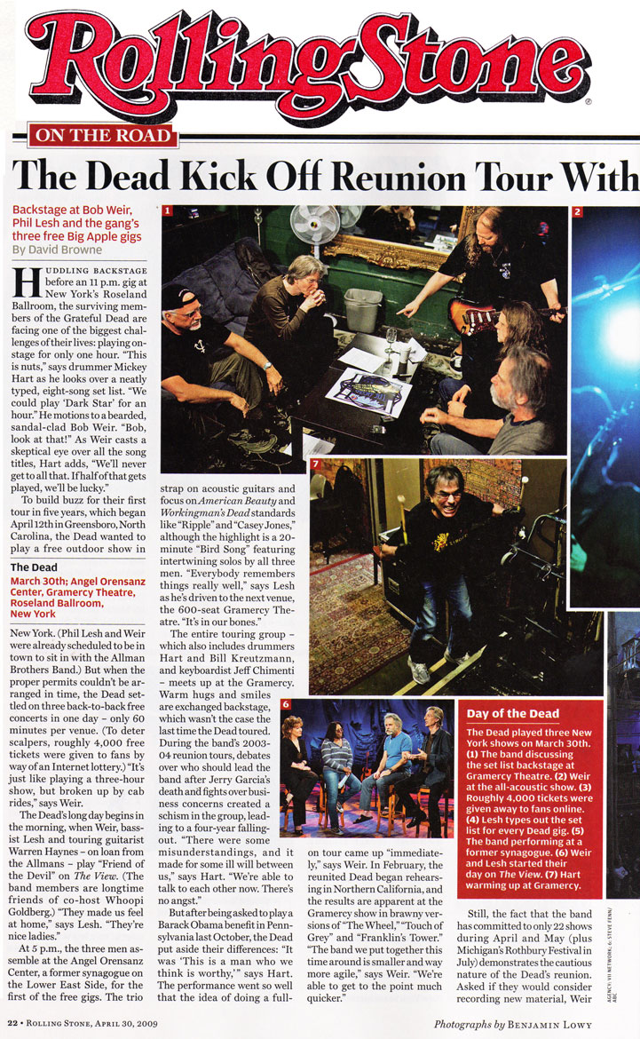 The Dead in Rolling Stone 2009