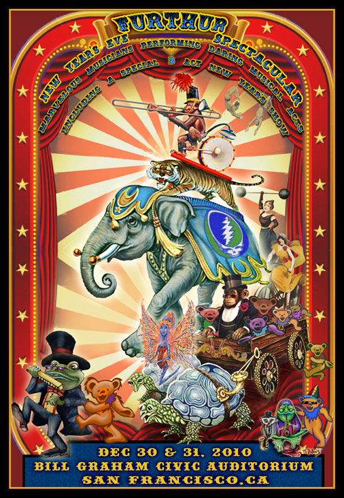Furthur New Years Eve Lenticular Poster by Mike DuBois