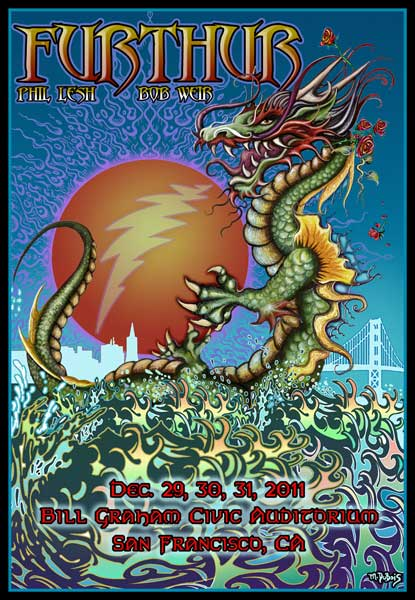 Furthur New Years Eve Dragon 2011 by Michael DuBois