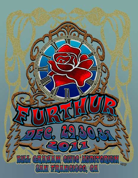 Furthur New Years Eve Rose 2011 by Michael DuBois