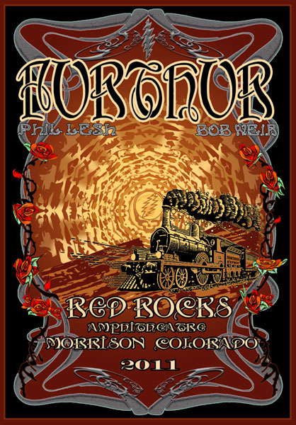Furthur Red Rocks 2011 by Michael DuBois