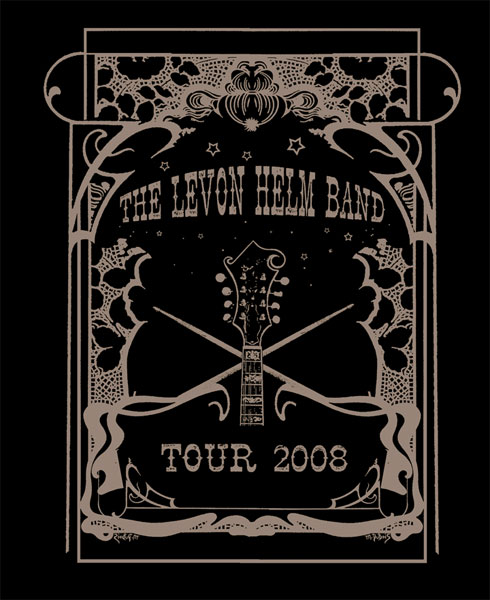 Levon Helm Tourshirt 2008
