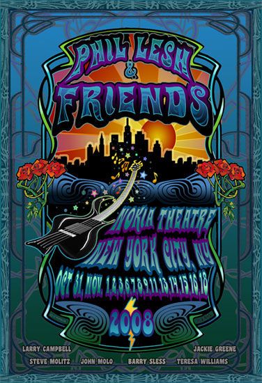 Phil Lesh & Friends-Artwork by Mike DuBois