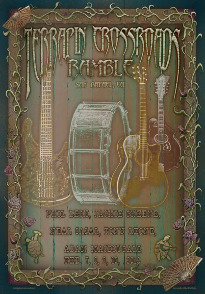 Terrapin Crossroads Ramble Feb. 2013 Poster by Michael DuBois